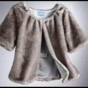 Simply Vera Vera Wang Jackets & Coats - Vera Wang faux fur Cropped Jacket silver/grey Sz M